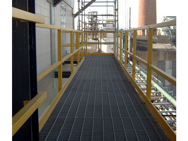 G R P Walkway and Railing in Chemical Plant