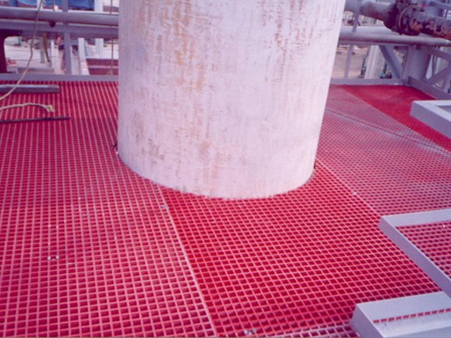 G R P Corrosion Resistant Molded Grating in Chemical Plant