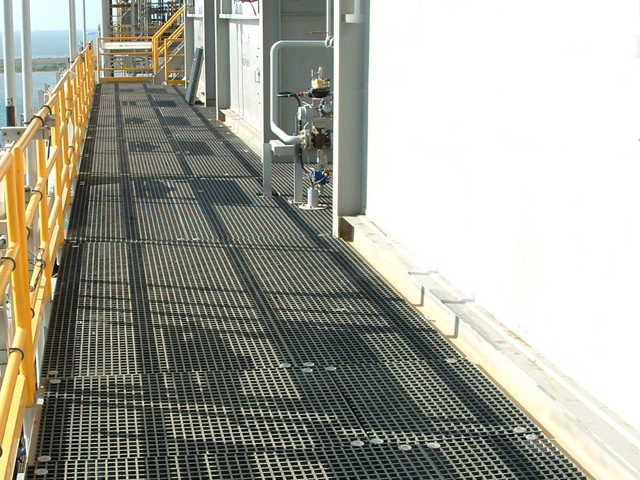 G R P Offshore Molded Grating Walkway