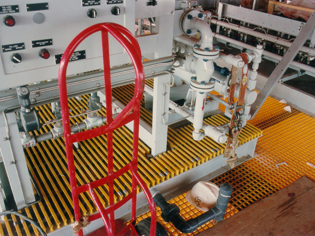 Oil and Gas G R P Pultruded Grating