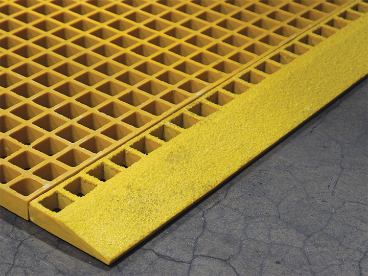 GRP Molded Grating Grating Edge Ramp, FRP Molded Grating Grating Edge Ramp